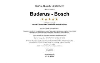 Buderus Bosch certifikat
